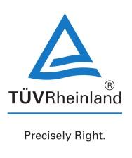 Marque TÜV Rheinland - Precisely Right
